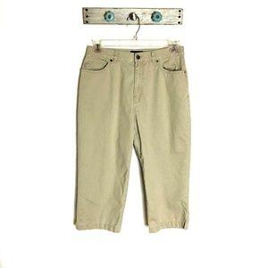 Ralph Lauren LRL 12 Tan Cropped Pants Capris